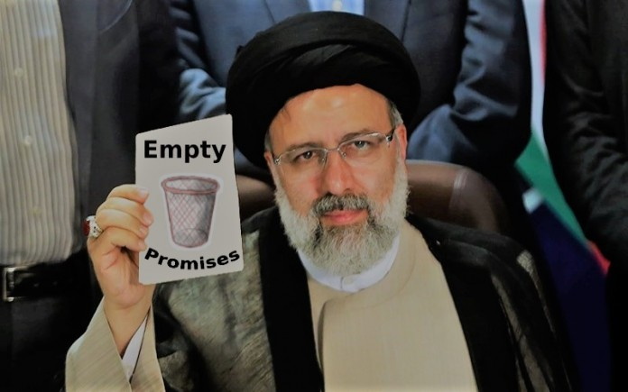 The Iranian regime's president Ebrahim Raisi gave promises which are not realizable, even with the full support of the regime's supreme leader, experts point out.