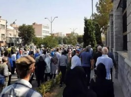Homa pensioners and staff protest in Iran